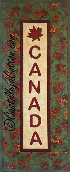 Canada Panel Wall Quilt