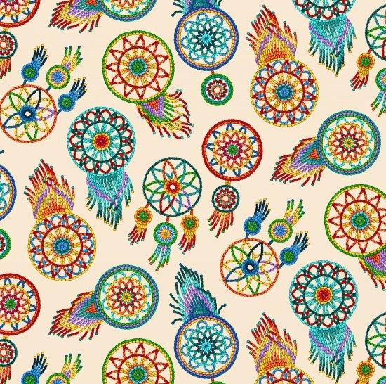 Tucson Dreamcatcher fabric 537 Cream