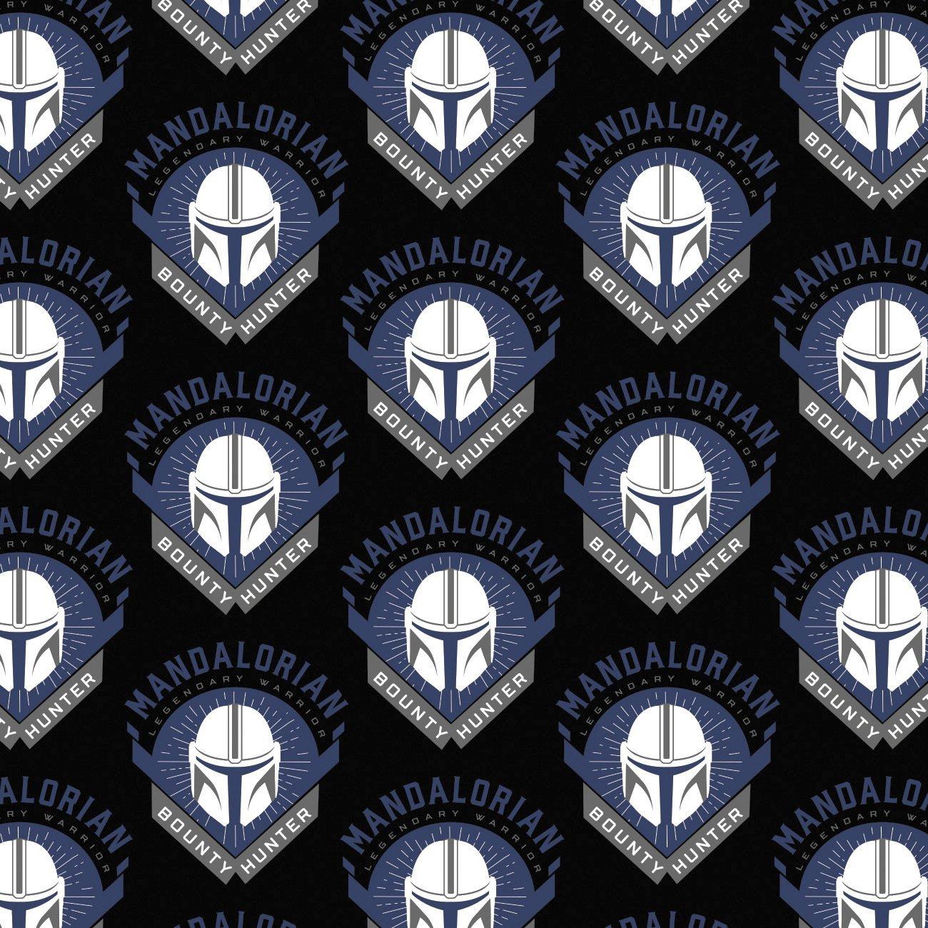 Mandelorian Fabric Legendary Warrior FLANNEL