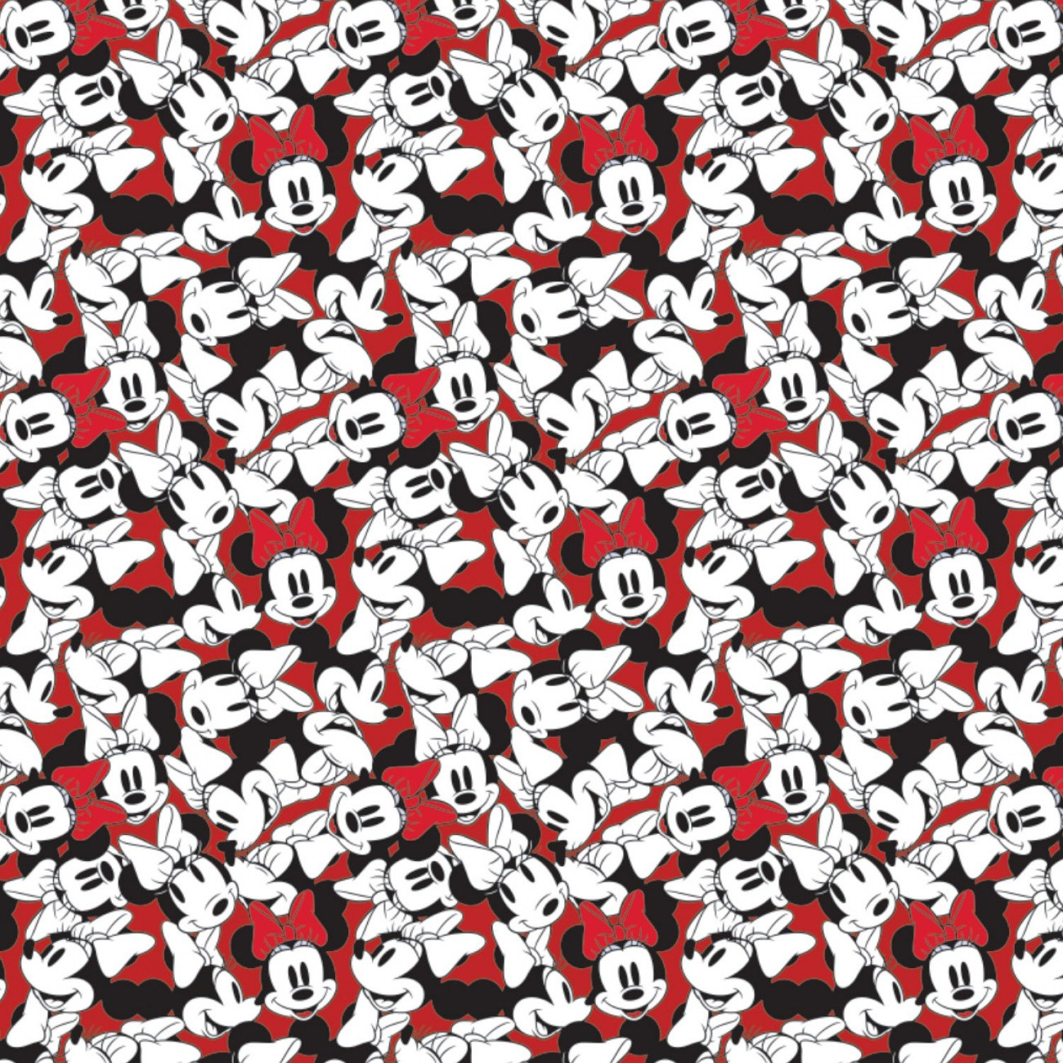 Minnie Mouse Fabric 85271010 02 Red