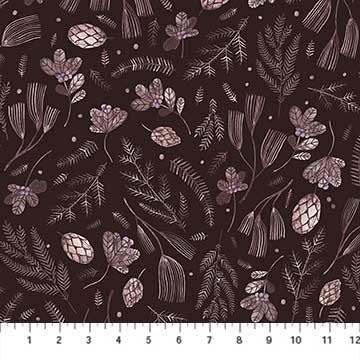Fat Quarter Print 90264 36 Cozy Up Brown Twigs