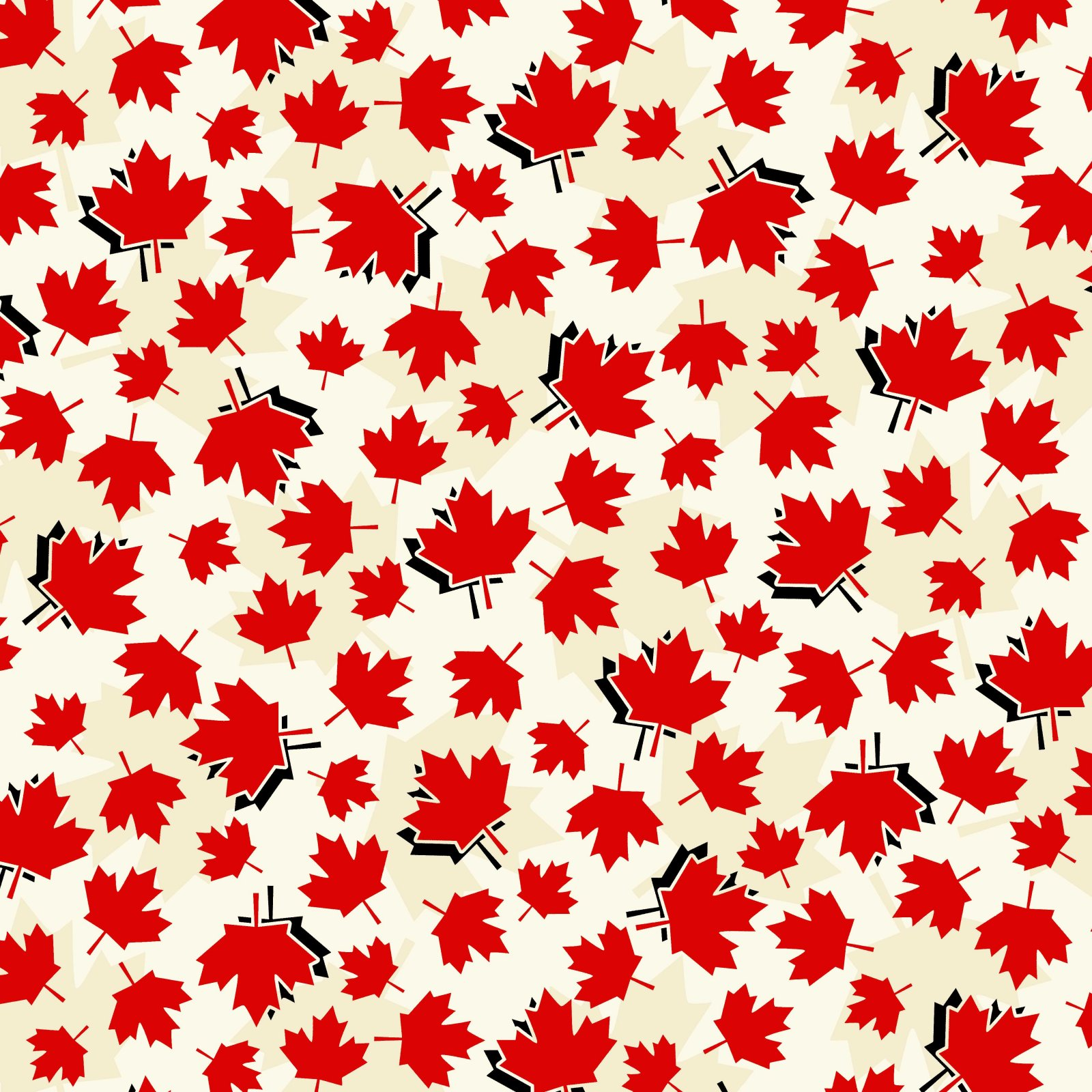 Discover Canada - Maple Leaf Toss on Ivory