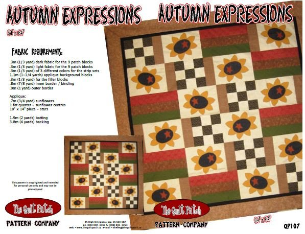 Pattern Sale - Autumn Expressions