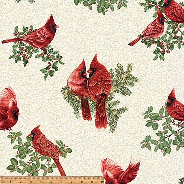 A Winter Sale Fabric - A Festive Season, White
