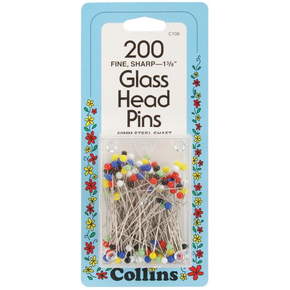 Glass Head Pin Size 23 - 1 3/8in 200ct