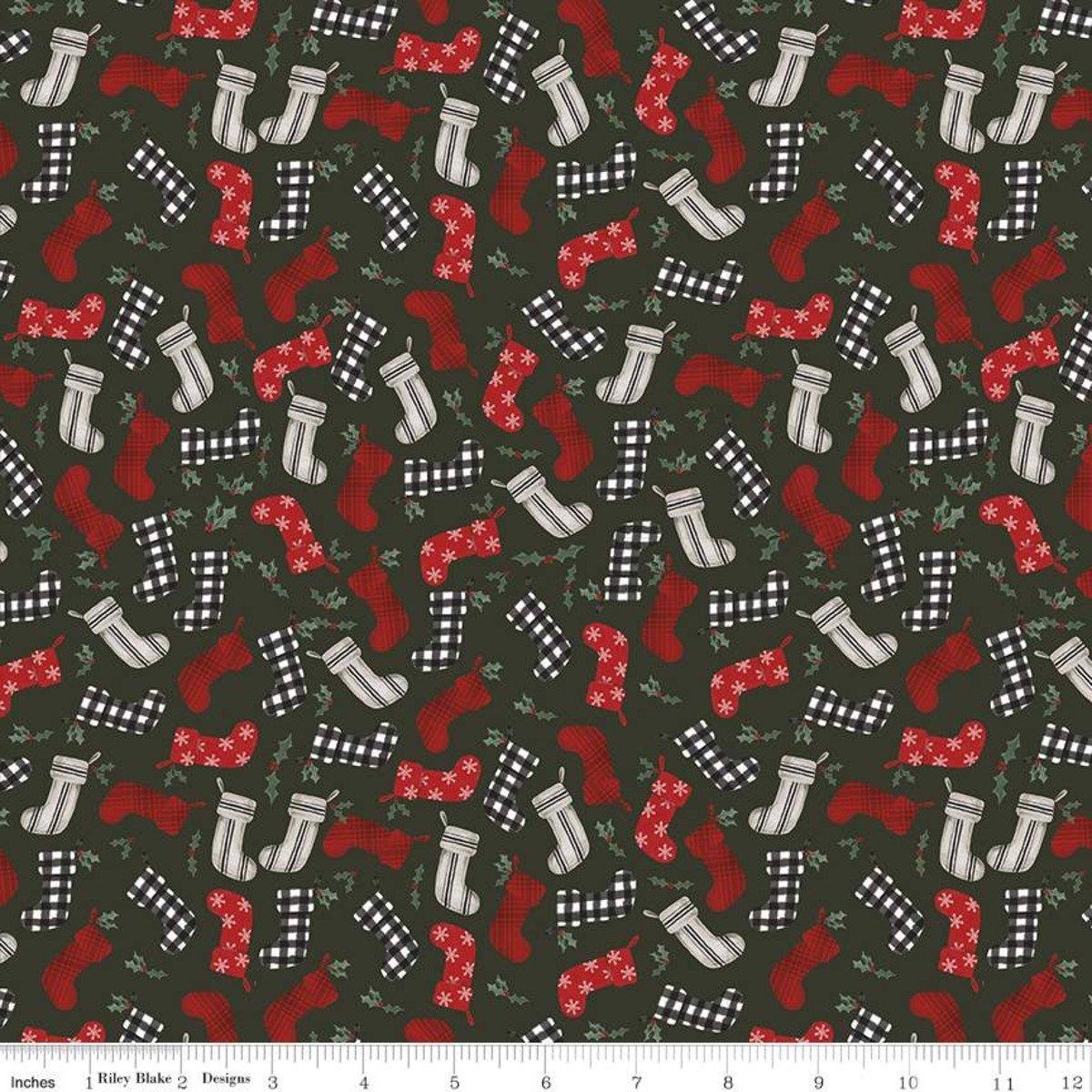 Farmhouse Christmas Stockings Forest C10952