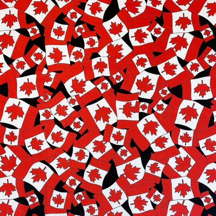 Canada Flag  MINI Black GFL