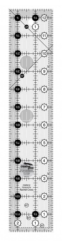 Creative Grids Ruler 2-1/2IN X 12-1/2IN