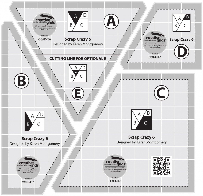 Creative Grids Scrap Crazy Template Set