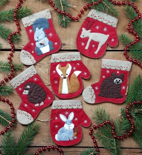 Christmas Critters ORNAMENTS - Kit
