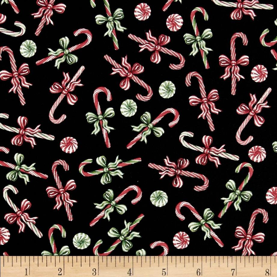 A Winter Sale Fabric - Christmas Elegance Candy Cane print