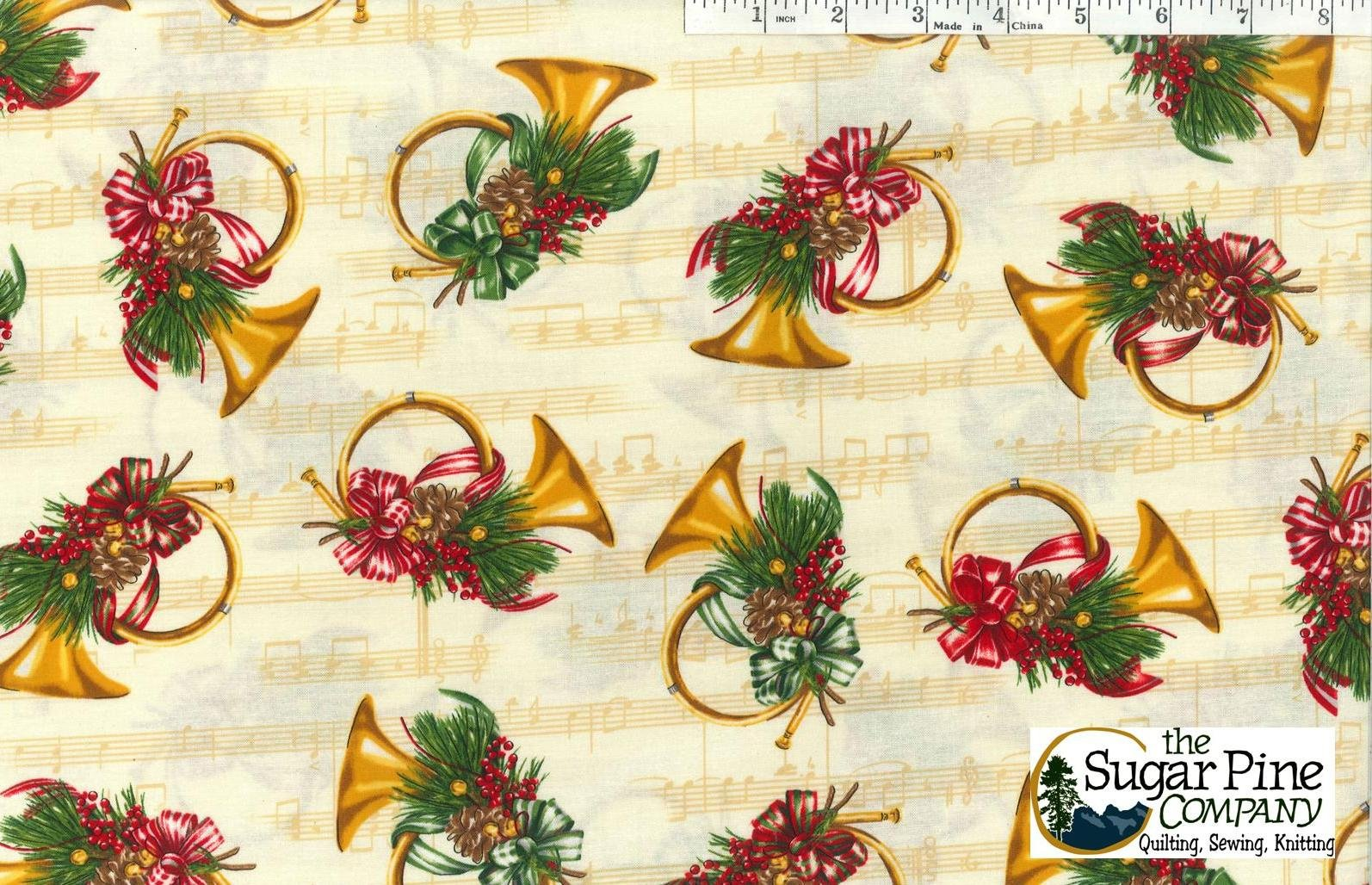 A Winter Sale Fabric - Christmas Orchestra Ivory