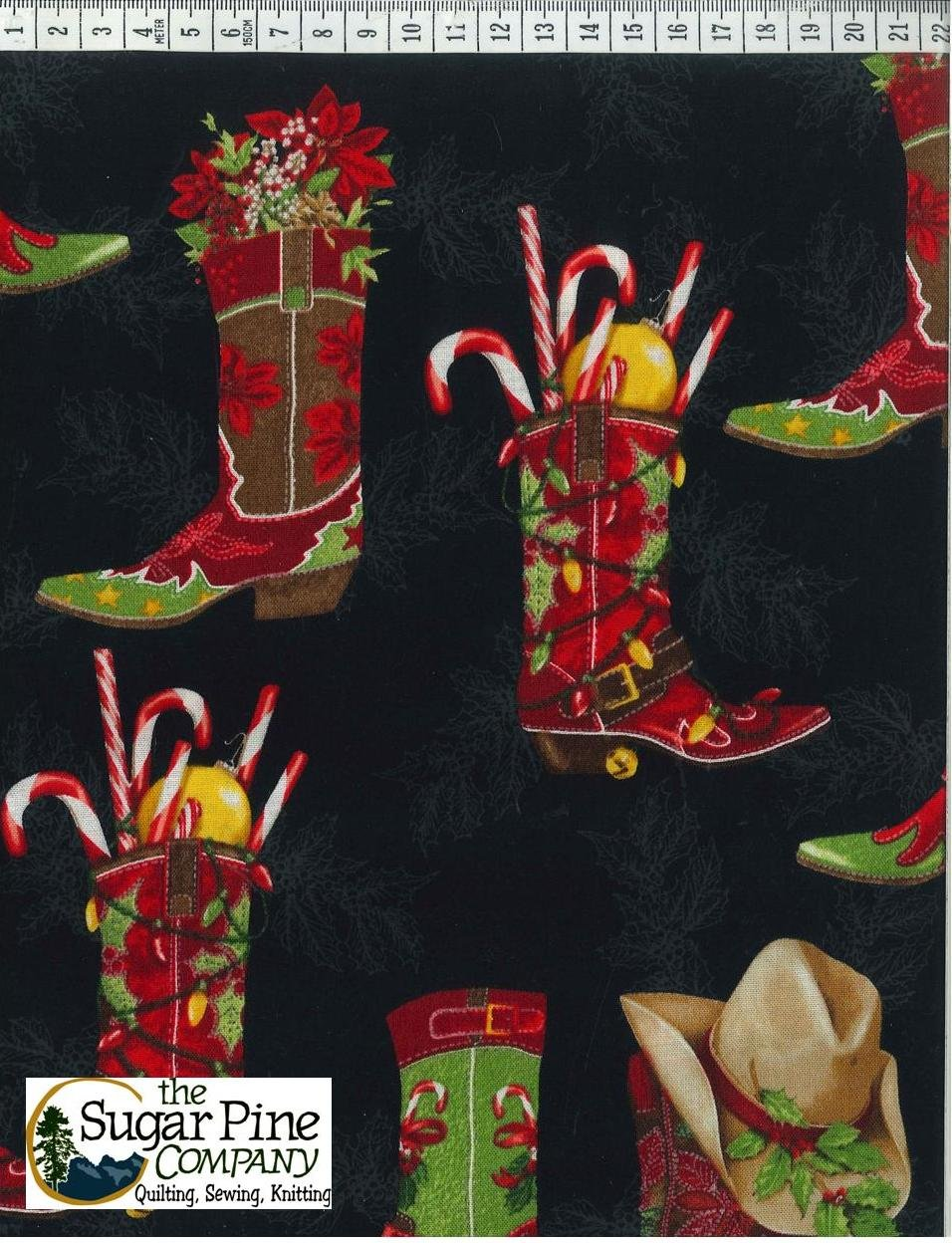 A Winter Sale Fabric - Cowtown Christmas Boots