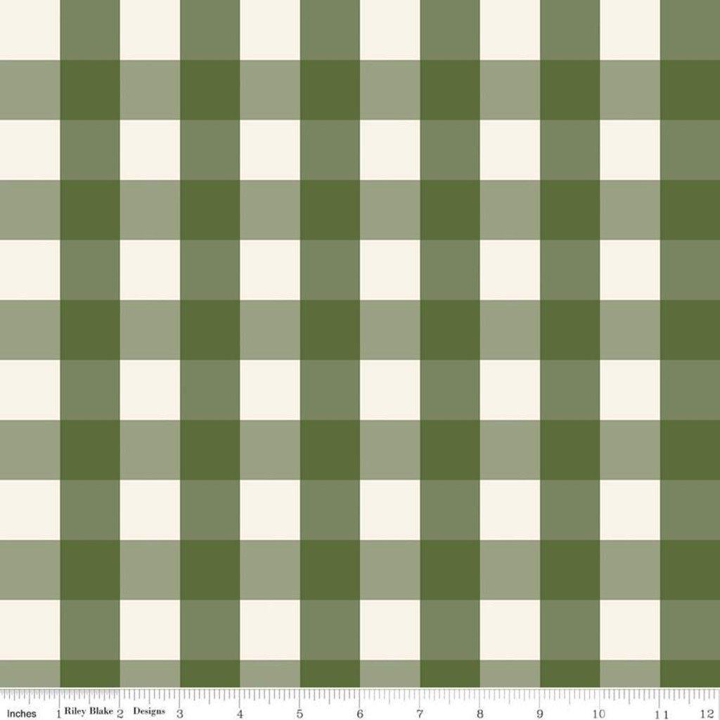 FLANNEL: C7814 Green Winterberry Plaid