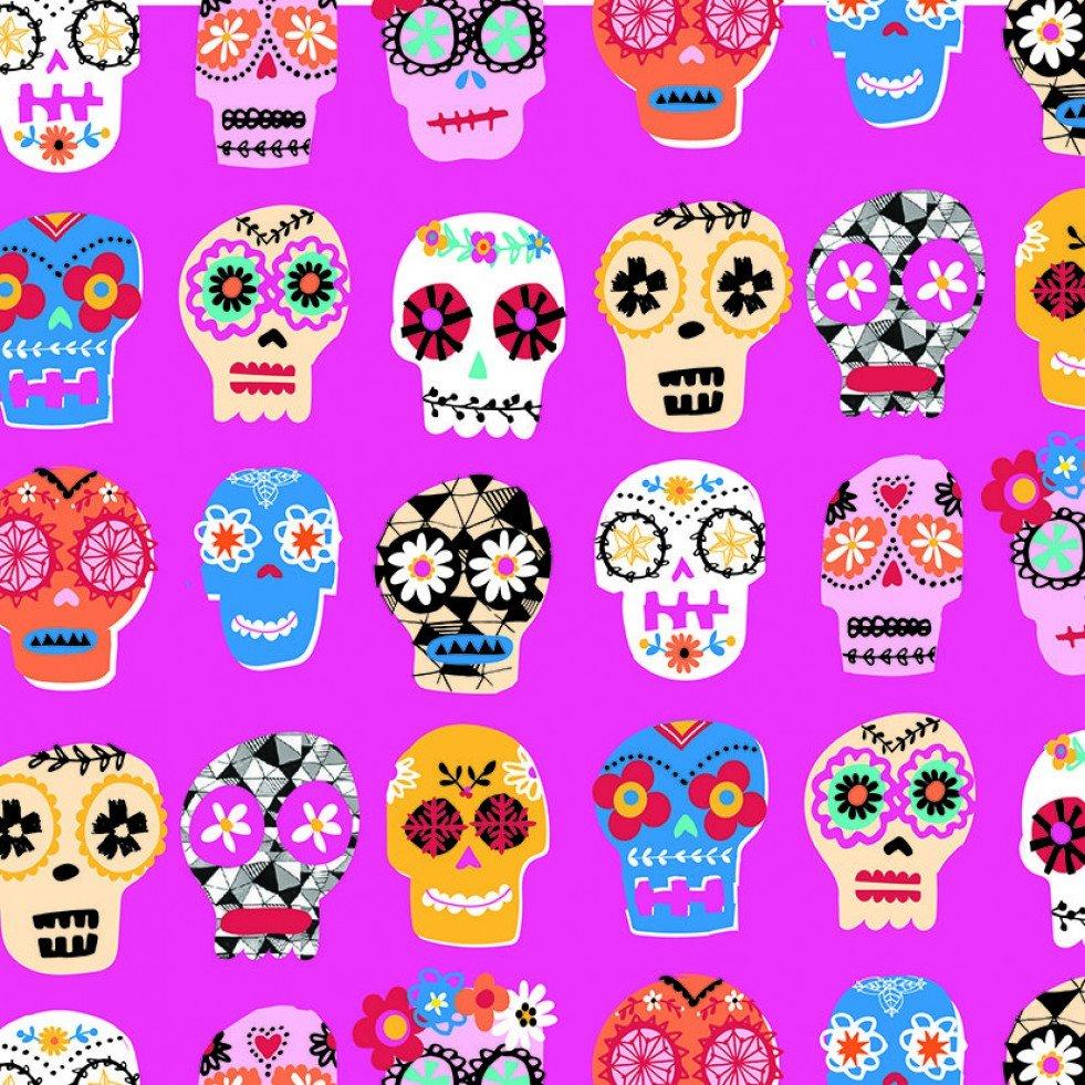 Fiesta Sugar Skulls Fabric FEST 1639 Dashwood Studio