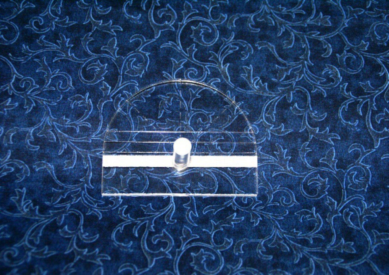 Fine Line Template Half Circle 2in Diameter 3-1/2in Width