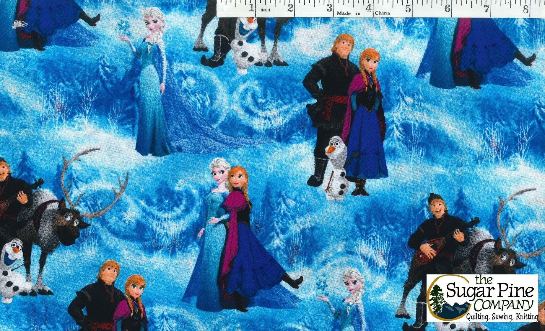A Winter Sale Fabric - Frozen print