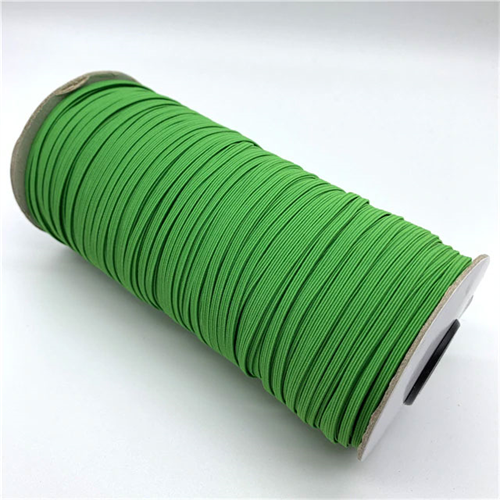 Elastic - 1/8 inch, 3mm green braided