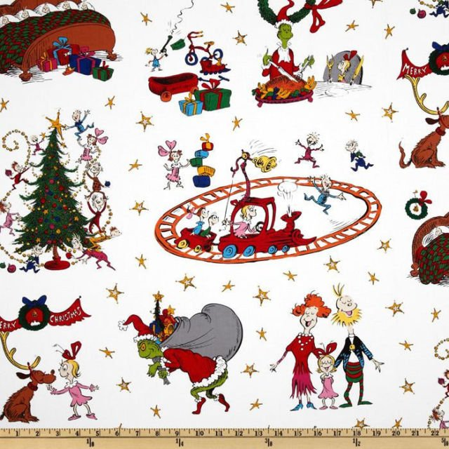 A Winter Sale Fabric - Grinch Christmas