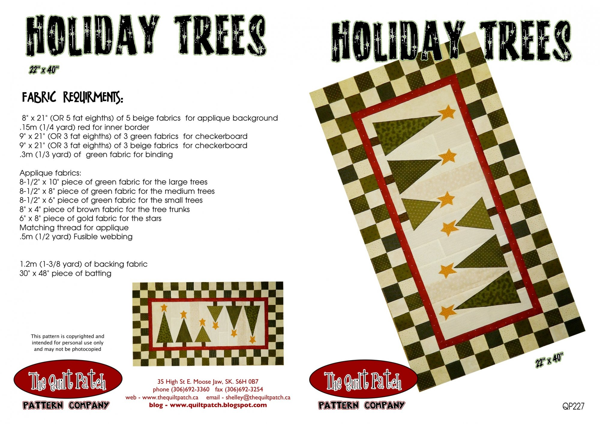 Holiday Trees Quilt