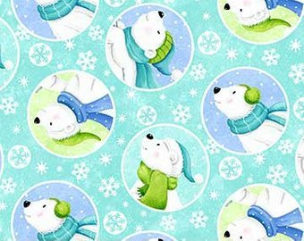 Friday Flannel Sale Fabric - Snow Bears Flannel