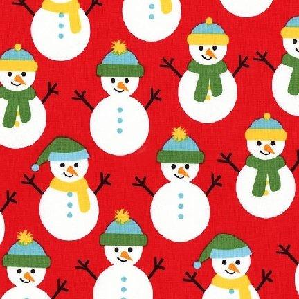 Friday Flannel Sale Fabric - Jingle Snowmen Flannel - copy