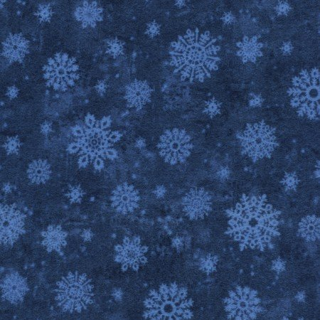 Friday Flannel Sale Fabric - Snowflake Navy Flannel