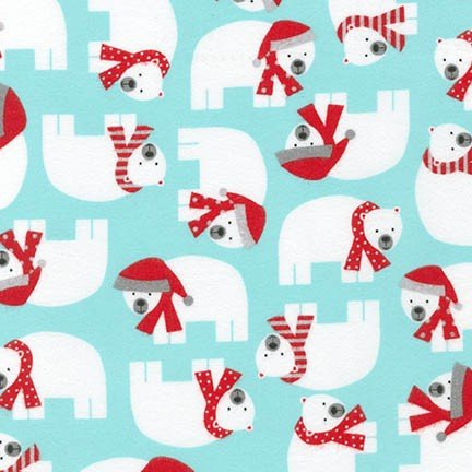 Friday Flannel Sale Fabric - Jingle Bears Flannel - copy