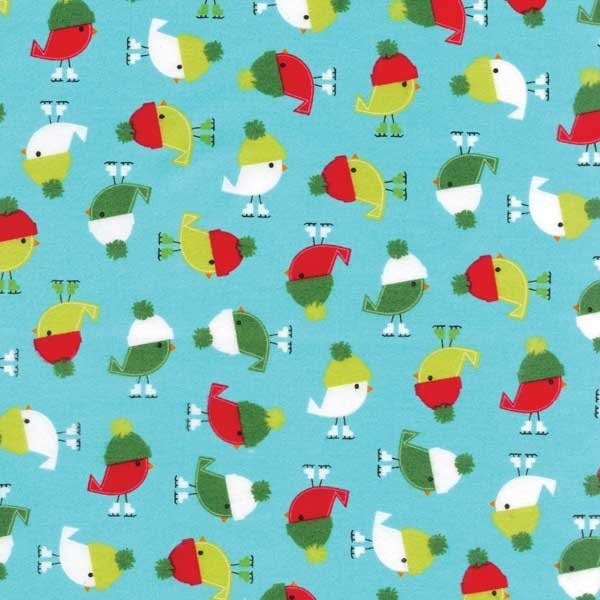 Friday Flannel Sale Fabric - Jingle Birds Flannel