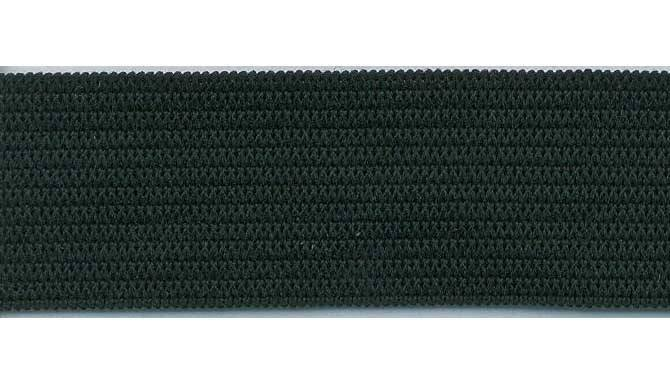 Elastic - 1/4 inch black knitted - for Masks