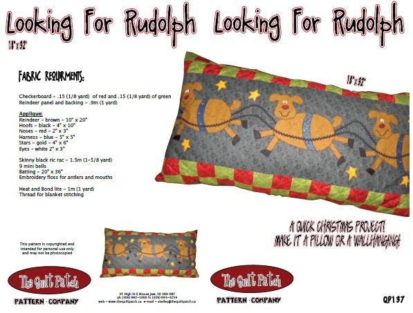 Christmas Sale Pattern: Looking for Rudolph