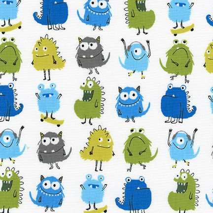 A Winter Sale Fabric -  Monsters