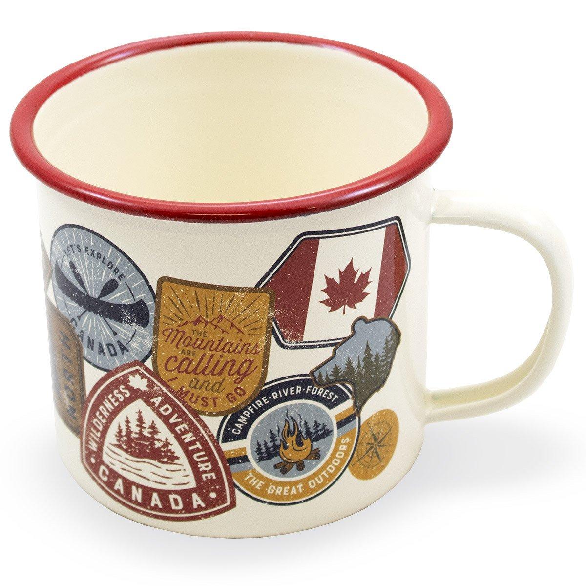 Canada Travel Badge Tin Mug