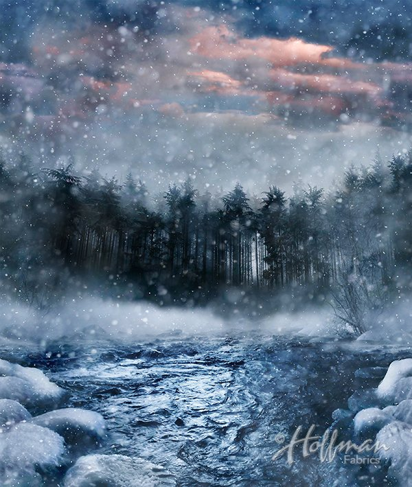 Winter Stream Panel - Call of the Wild Digital Print