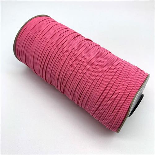 Elastic - 1/8 inch, 3mm pink braided