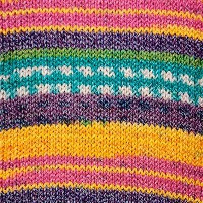 Alicante 13 Sock Yarn - Pink/Purple/Gold