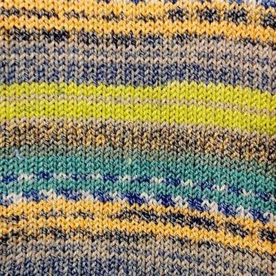 Alicante 13 Sock Yarn - Green/Yellow
