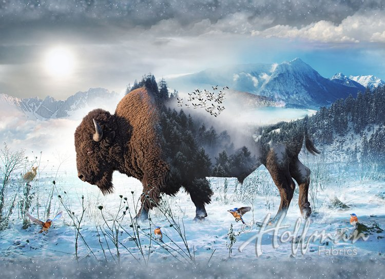 Bison Panel - Call of the Wild Digital Print
