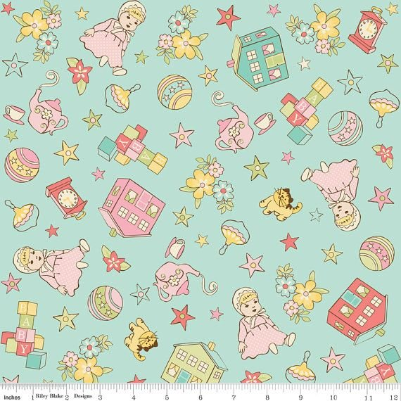 Fabric Sale - Vintage Baby C2819 Aqua