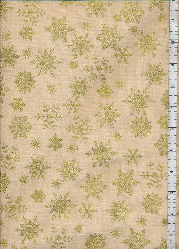 Christmas Fabric  Sale  -  Crafters Christmas Beige