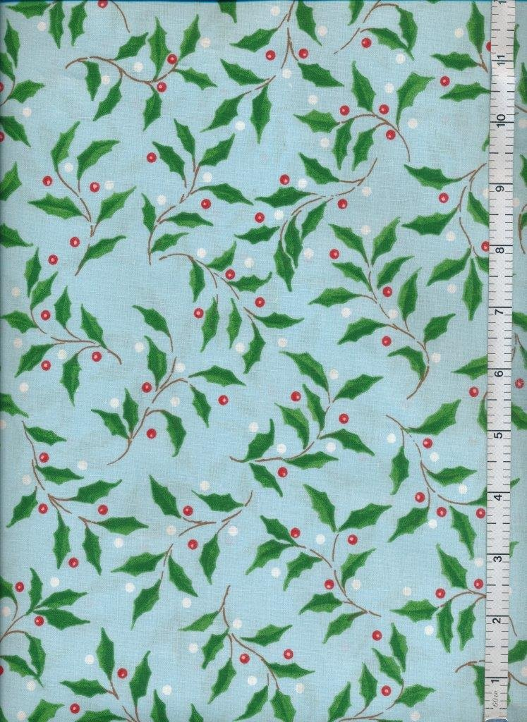 Christmas Fabric  Sale  -  Crafters Christmas Blue