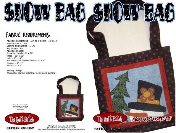 Christmas Sale Pattern: Snow Bag