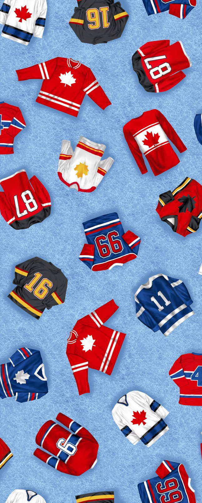 Canada's Game Hockey Fabric- Jerseys