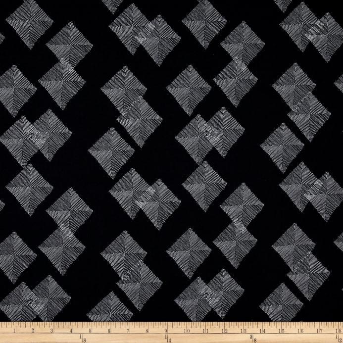 A Winter Sale Fabric - Dear Stella, Black Modern Mat