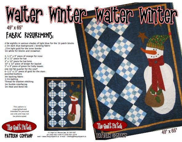 Christmas Sale Pattern: Walter Winter