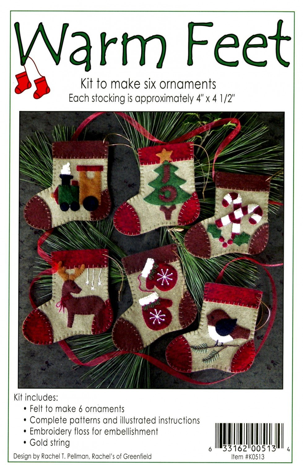 WARM FEET ORNAMENTS - Pattern