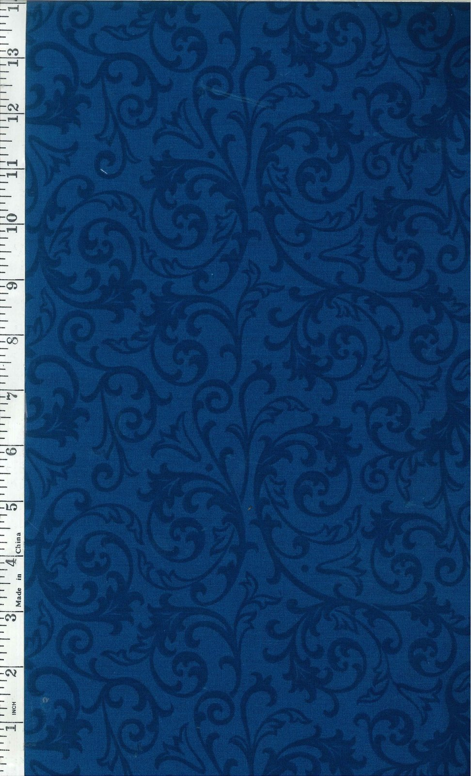 Wide Backing Fabric - Blue Scroll Wide Backing