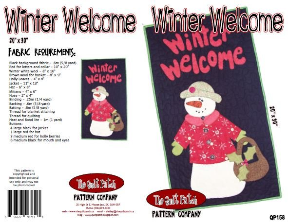 Christmas Sale Pattern: Welcome Winter