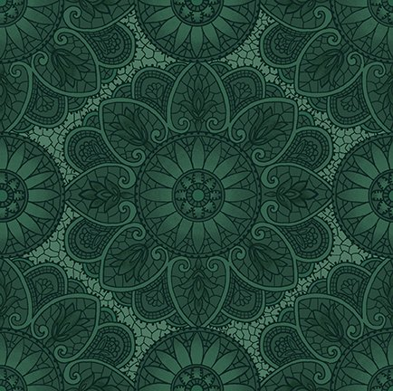 Sage & Sea Glass Mandala Blue 1536-11