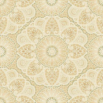 Sage & Sea Glass Mandala Cream 1536-44